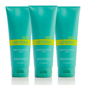 doterra SPA hand body lotion, 3er Set